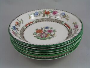 """SET OF SIX COPELAND SPODE CHINESE ROSE 7 1/2"""" SOUP/CEREAL BOWLS."""