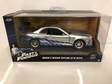 Fast and Furious Brians Nissan Skyline GT R R34 Scale 1:32 Jada