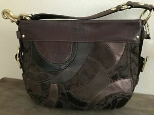 COACH Zoe Mosaic Leather Patchwork Hobo Shoulder Bag # 13155 NWT