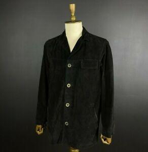 Marlboro Classics Vintage Black Leather Jacket Size S Men's