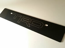 [SR] Black Front License Plate Delete 'TRD' Outline Laser Engraved Logo Toyota