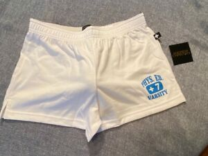 """Andrew Christian"" Phys. Ed Shorts - Size ""XL"" - White, Blue (6553W)"