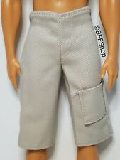 MATTEL GREY DENIM SHORTS BERMUDA BARBIE KEN DOLLS FASHIONISTAS FASHION CLOTHES