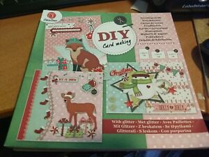 BLOCK WITH GREETING CARDS CHRISTMAS FOR MAKE 12 CARDS/NO SCISSORS NEED (Z04)