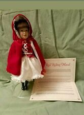 Danbury Mint Little Red Riding Hood Storybook Doll Red Cape