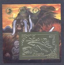 MONGOLIA 1993, Butterflies, Whale, SS (gold), single, MNH**(30)
