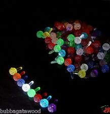 27 BERRY LIGHT 9 Color EQUAL Amt round ball Ceramic Christmas vintage tree twist