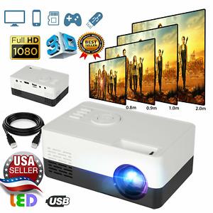 LED Portable Mini Projector Smart Home Theater Cinema 1080p Full HD HDMI