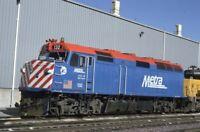 METRA Railroad Locomotive 132 PROVISO IL Original 1991 Photo Slide