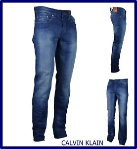 calvin klein jeans uomo slim fit skinny pantaloni stretti vita bassa w30 w31 44