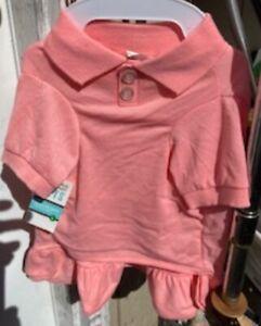 Martha Stewart Pets Large Two Button Pink Tee Dress