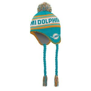Outerstuff NFL Toddlers Miami Dolphins Jacquard Tassel Knit With Pom, OSFM