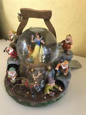 More details for disney snow white and the seven dwarfs mine scene musical snow globe 13