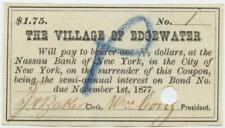 Staten Island New York City 1870s Edgewater Village Bond Coupon Civil War Era 11