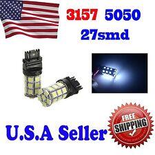 4 x White Led Parking Light 3157 27 SMD 5050  LED Light bulb 4157NA 3757A 3457