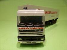 MATCHBOX DAF 3300 SPACE CAB TRUCK + TRAILER - EUROTRANS - WHITE 1:50 - VG