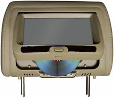 "Tview T737DVPLTAN 7"" In Headrest Monitor With Dvd Player Built In Speakers"