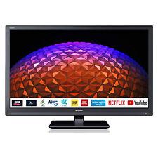 """Sharp 1T-C24BC0KR1FB 24"""" pulgadas preparado para HD LED Smart TV con tdt Play-Negro"""