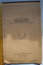Navigation Chart Book Middle & Upper Mississippi River 1958 + Channel Brochure