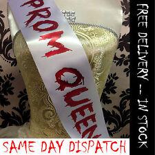 Prom Queen Sash Pageant beauté Queen Halloween déguisement costume bon marché