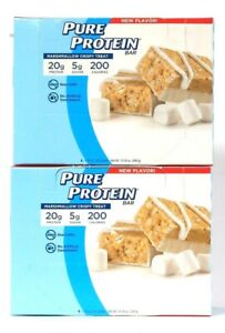 2 Boxes Pure Protein 10.58 Oz Marshmallow Crispy Treat 20g Protein 6 Count Bars