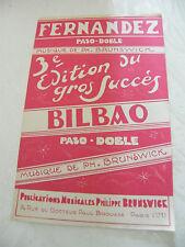 Partition Fernandez Paso Doble Brunswick Bilbao
