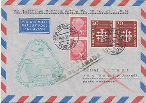 """BUNDESREPUBLIK 1956 Erstflug Deutsche Lufthansa  """"DÜSSELDORF – SAO PAULO"""""""