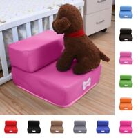 2 Steps Pets Stairs Soft Playing Couch Dogs Easy Step Ramp Ladder Comfortable