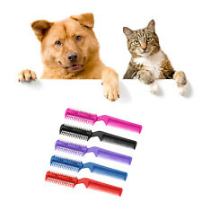 Pet Hair Dog Puppy Cat Long Hair Trimmer Grooming Brush Comb Cutter Blade New