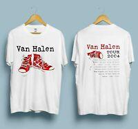 New Vintage Van Halen Tour 2004 T-shirt Gildan reprint
