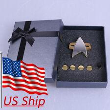 Star Trek Voyager Communicator Badge & Rank Pin A Set Of 6 Star Trek Badge New