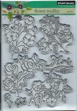 """""""Flower Medley"""" Transparent Stamp Set by Penny Black"""