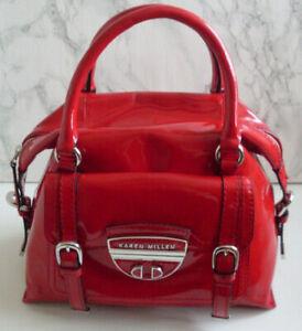 KAREN MILLEN Designer London Red Leather Bag EXCELLENT