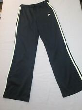Adidas Black Track Pants Yellow 3 Stripes Womens Size Small