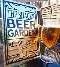 NEW PERSONALISED LARGE METAL BEER GARDEN SIGN PERFECT FOR GARDENS&HOME BARS (29)