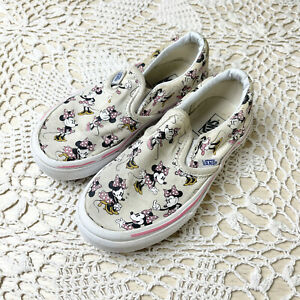 Vans Minnie Mouse Girls Slip On Sneaker Shoes Size 11