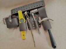 Nuevo Original De Cuero Marrón Andamio Cinturón de herramientas completo conjunto de herramientas de calidad superior Venta