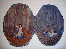 1912 Print From a Children's Music Book w/ Hansel & Gretel In The Woods *