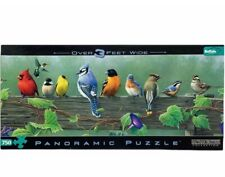 NEW 750 piece Buffalo Hautman Brothers SONGBIRD Panoramic Jigsaw Puzzle