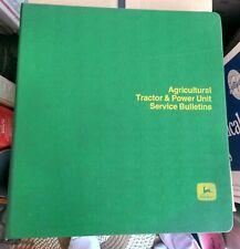 "Rare 1970s John Deere ""Tractor & Power Unit Service Bulletins"" Binder"