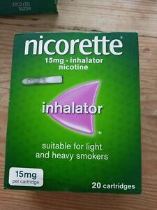 Nicorette Inhalator Nicotine 15mg 20 Cartridges NEW FREE UK MAINLAND P&P