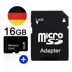 16GB Mikro SD TF Card Karte SDHC Class10 Speicherkarte für Handy Tablet Kamera