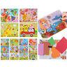 DIY Kids cartoon animals 3D EVA foam sticker puzzle toys learning toys giftBB