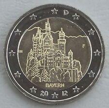2 Euro Germania F 2012 neuschwans TEIN/Baviera unz