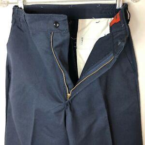 New Red Kap Men's Elastic Waist Work Pants, Navy Blue NWT