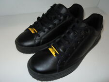 FILA  Amalfi Logo  SLIP RESISTANT Blk Synthetic Soft Toe Work Shoe Women Size 8