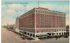 Postcard Canada London Hotel London Ontario Vintage Old Cars