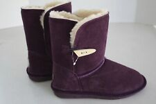 BEARPAW Girl's Purple Low Abigail Toggle Boots size 3M New
