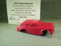 HO Slot Car Resin Body 1957 Chevy Nomad RED 1 AFX/TOMY Mega-G+ 1.5 Chassis +MORE