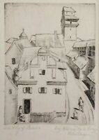 Vintage Etching Of Bavaria By Anton Lang Passion Play Actor Oberammergau Germany